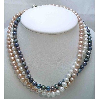 Collection of 3 Pearl Necklaces