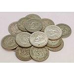 Australia Silver Shillings (x16)