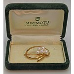 MIKIMOTO Pearl Brooch - 14ct Gold