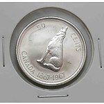 Canada Silver 50 Cents 1867-1967