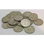 Australia Silver SixPences QE II George VI (x25)