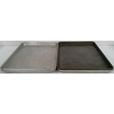 Rectangular Oven Trays - Lot of Four