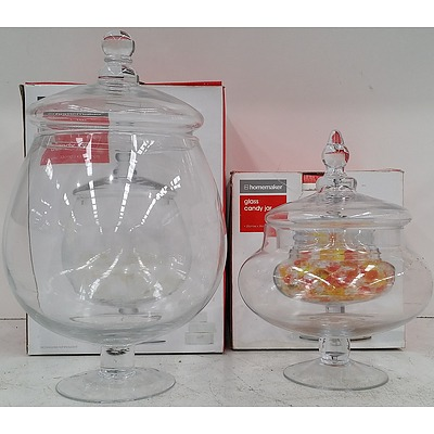Homemaker Glass Candy Jars - Lot of 12 - New - RRP $180.00