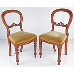 Four Australian Cedar Balloon Back Dining Chairs