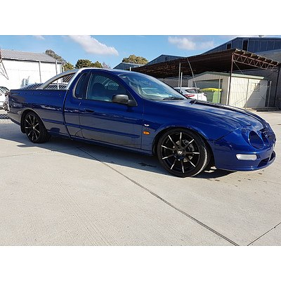 9/2000 Ford Falcon XR8 AUII Utility Blue 5.0L - Manual - Supercharged