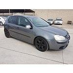 4/2005 Volkswagen Golf 2.0 FSI Comfortline 1K 5d Hatchback Grey 2.0L