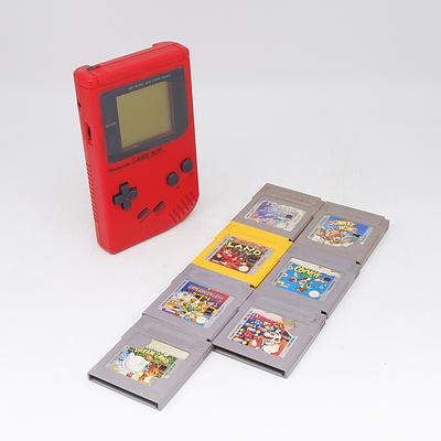 Nintendo Game Boy with Seven Games