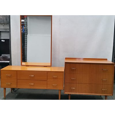 Retro Dresser and Chest of Drawers