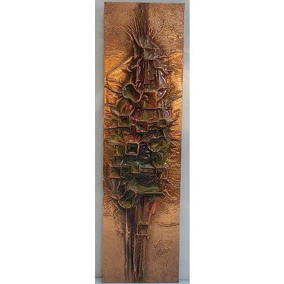 Three Dimensional Abstract Copper Rubbing