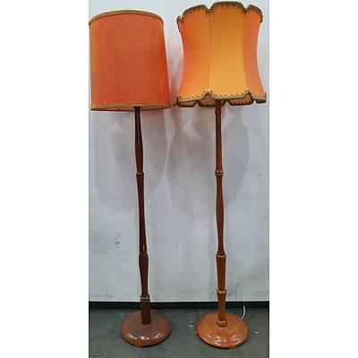 Retro Floor Lamps - Lot of Two