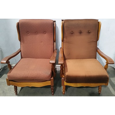 Van Treight Wingback Rocking Chairs - Lot of Two