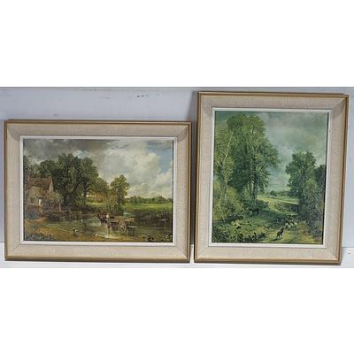 Two John Constable Offset Prints
