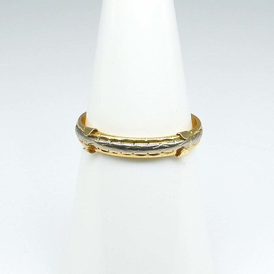 18ct Yellow Gold Two Tone Wedding Ring
