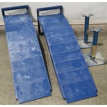 Pair of Metal Car Ramps and Jack Stands