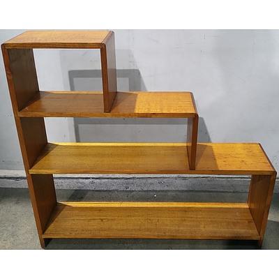 Tasmanian Oak Step Bookcase