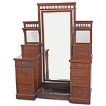 Substantial Late Victorian Mahogany Dressing Table Circa 1880