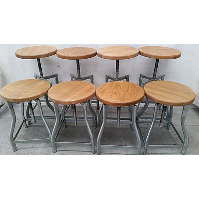 Round Cafe Stools - Lot of Eight