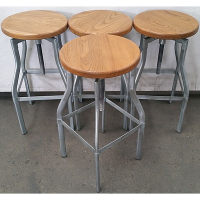 Round Cafe Stools - Lot of Four