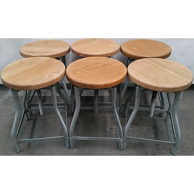Round Cafe Stools - Lot of Six