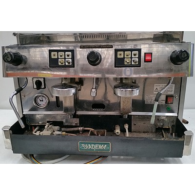 Diadema Two Group Head Coffee Machine
