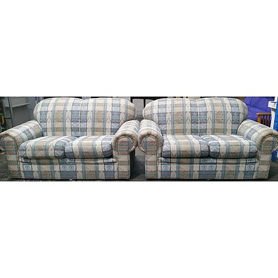 Minelli Two Seater Sofas - Lot of Two