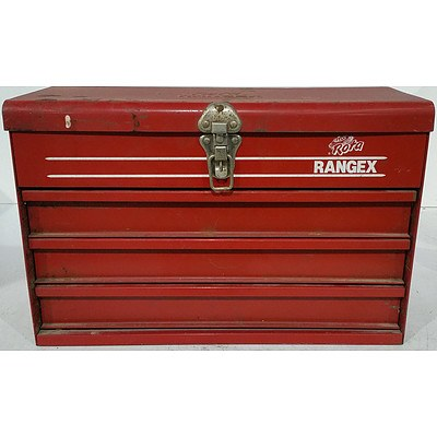 Rota Ranger Three Drawer Toolbox and Various Tools