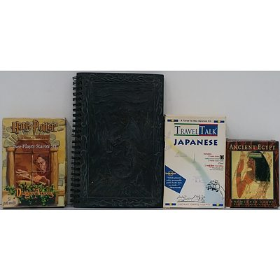 Japanese Travel Book, Harry Potter Trading Cards, Ancient Egypt Knowledge Cards, Dragon Notebook