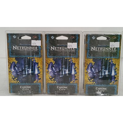 Android Netrunner Card Games - Lot of Six - New