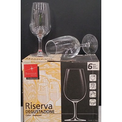 Bormioli Rocci Professional Glass Wine Stemware - Lot of 47 - New