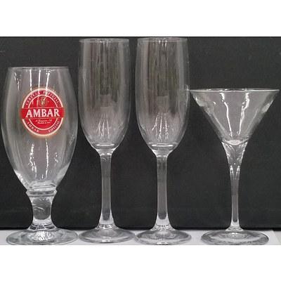 Bormioli Rocci and Arcoroc Professional Glassware - Lot of 33 - New