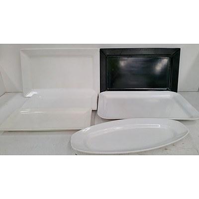 Ceramic and Melamine Platters - Lot of 26
