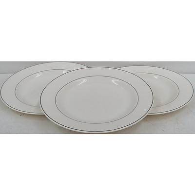 Arcopal Round Ceramic Dinner Plates - Lot of 49