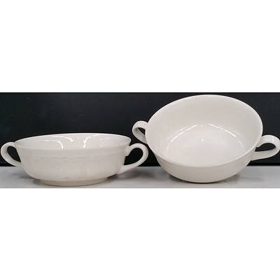 Ceramic Handled Soup Bowls - Lot of 56 - New