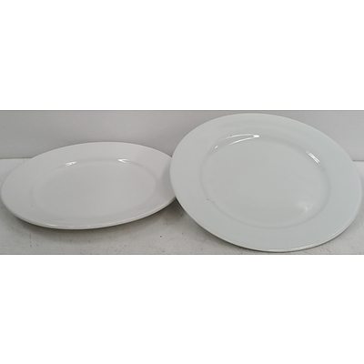 Ceramic Round Plates - Lot of 36 - New