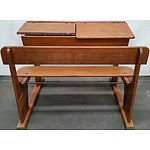 Vintage Tasmanian Oak School Desk