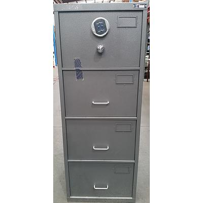 Planex B Class Four Drawer Filing Cabinet