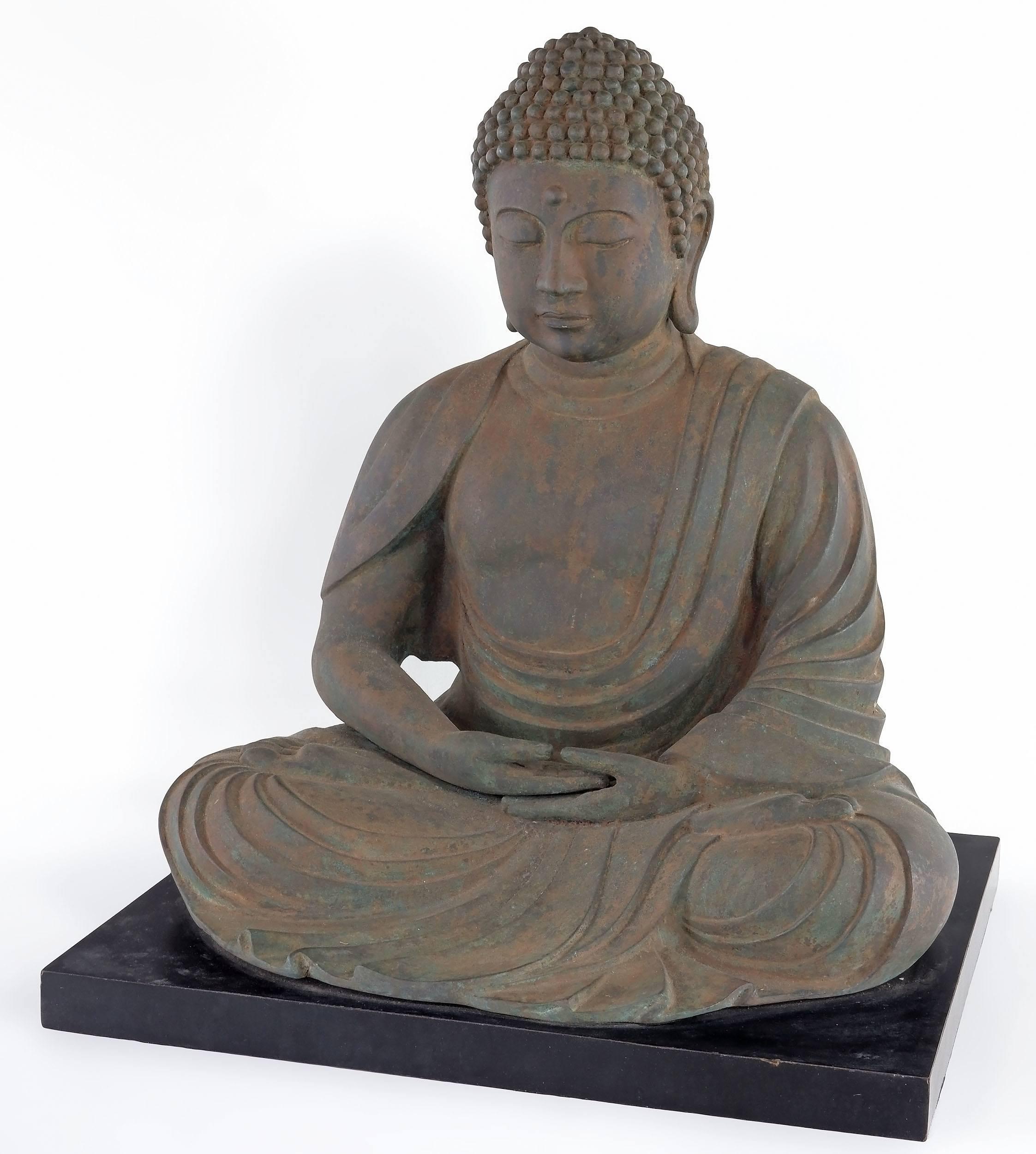 'Large Vintage Bronze Buddha, 20th Century'
