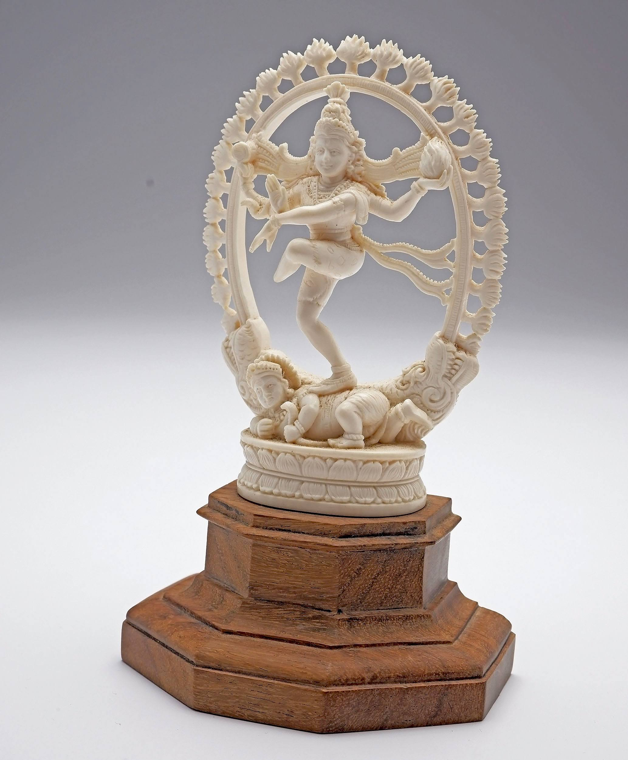 'Indian Carved Ivory Dancing Shiva, Early to Mid 20th Century'