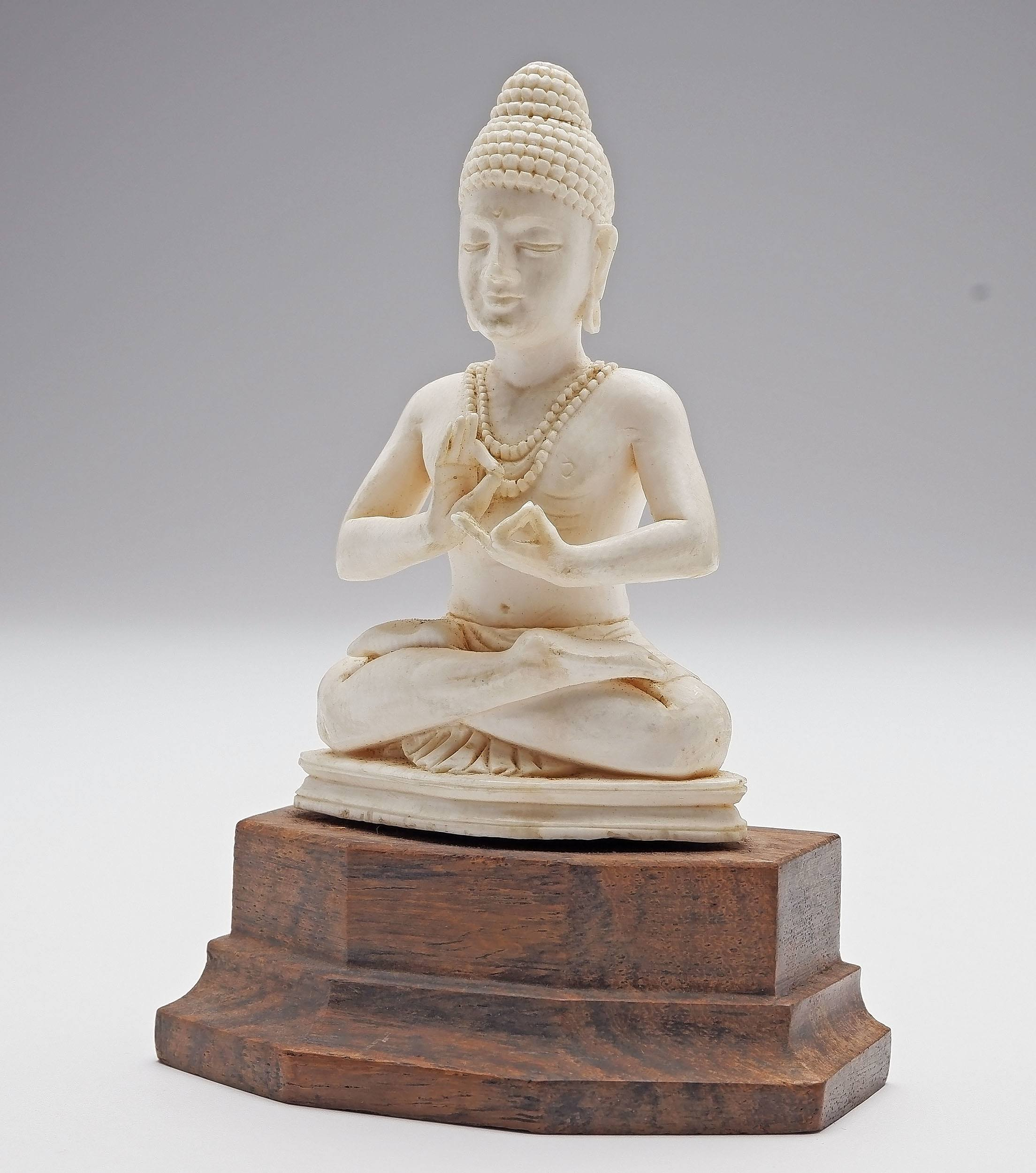 'Indian Carved Ivory Hindu Diety'