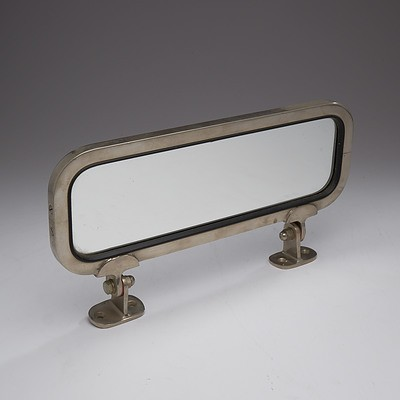 Vintage Chrome Bordered Rear Vision Mirror