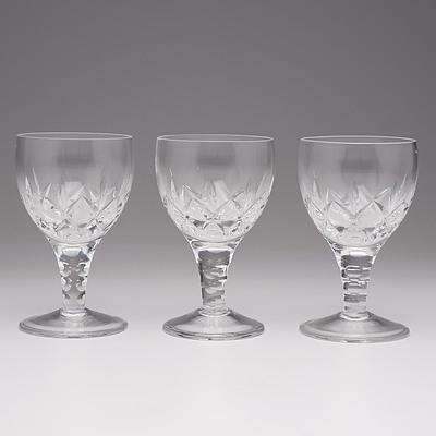 Three Stuart Crystal Wine Glasses