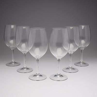 Six Spigalau Crystal Wine Goblets