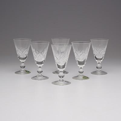 Two Sets of Six Stuart Crystal Port Glasses