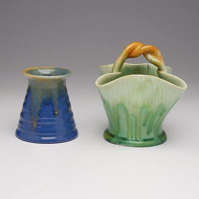Two Australian Remued Pottery Vases