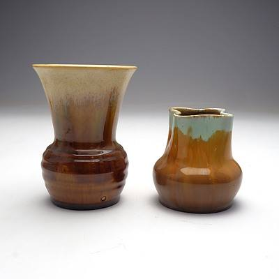 Two Australian Remued Pottery Vases, Circa 1930s