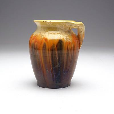 Australian Remued Pottery Vase with Branch