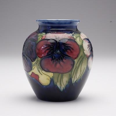 Walter Moorcroft Pansy Vase, Circa 1947