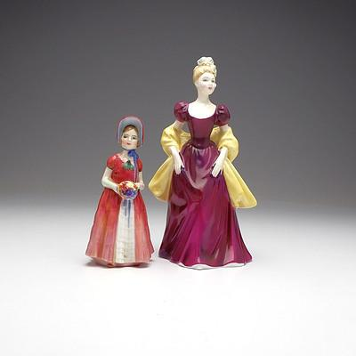 Two Royal Doulton Figures, Including Diana and Loretta