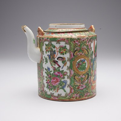 Chinese Export Famille Rose Teapot, Early 20th Century