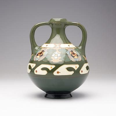 Dutch Art Nouveau Period Vase by Arnhemsche Faiencefabriek, Early 20th Century